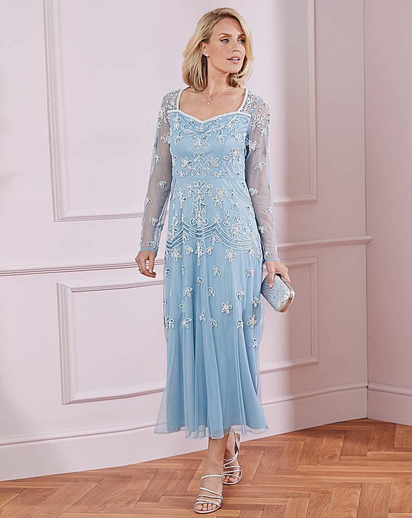 Downton Abbey Inspired Dresses Nightingales Beaded Dress £140.00 AT vintagedancer.com
