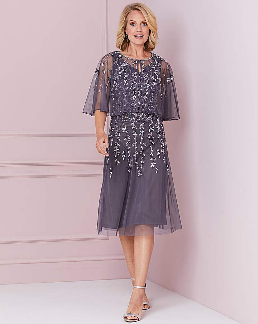 Vintage Evening Dresses and Formal Evening Gowns Nightingales Beaded Dress And Bolero £120.00 AT vintagedancer.com