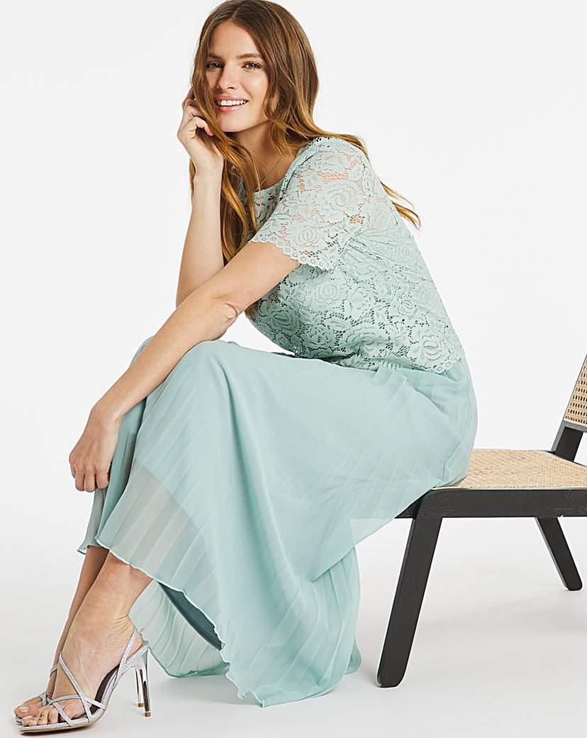 Nightingales Lace Pleated Dress