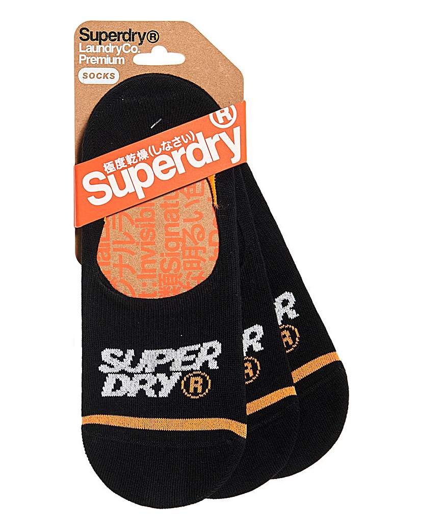 Superdry 3 Pack No Show Sock