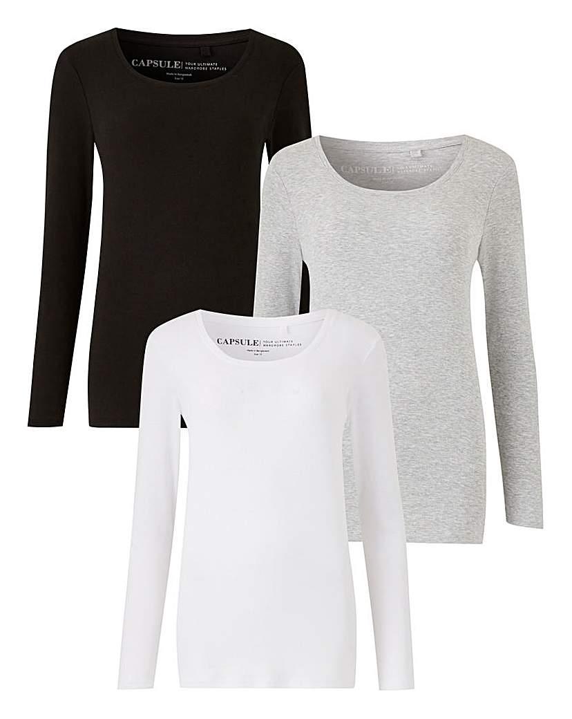 Pack of 3 Long Sleeve Tops