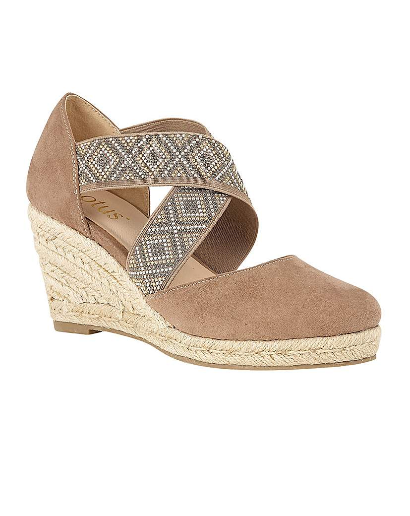 Lotus Zade Wedge Espadrille Shoes
