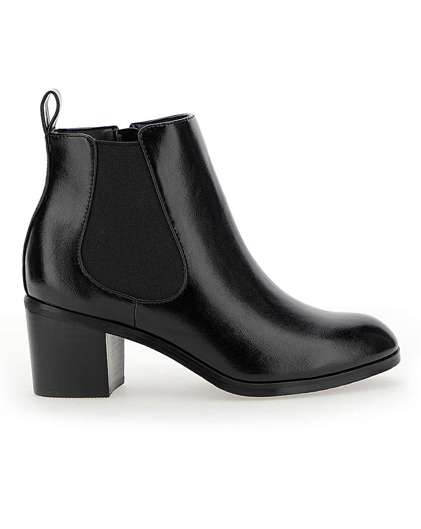 Simply Be Tyra Block Heel Chelsea Boot Wide Fit