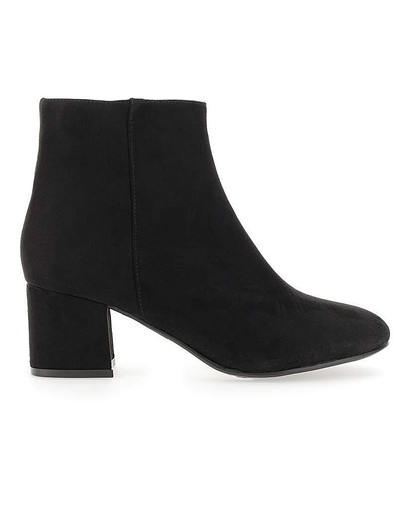 Simply Be Heidi Block Heel Boot Extra Wide Fit