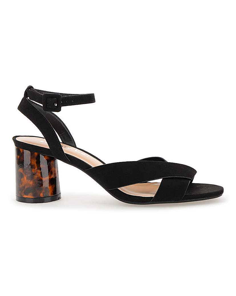 Simply Be Belle Ankle Strap Low Sandal Wide Fit