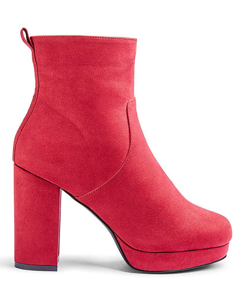 Simply Be Keela Platform Boots Wide Fit