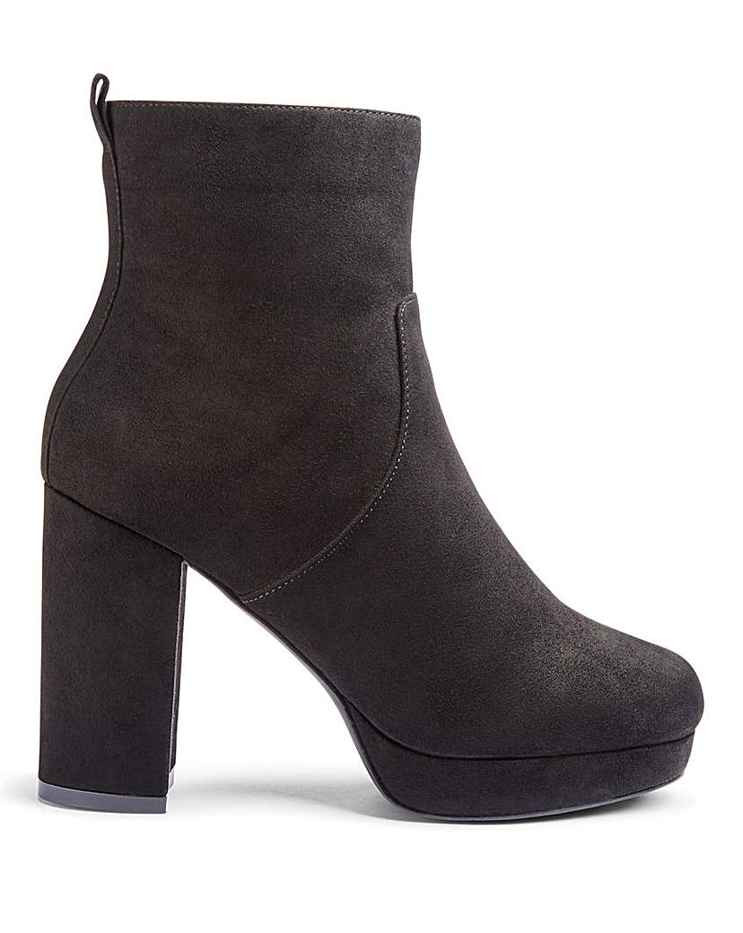 Simply Be Keela Platform Boots Extra Wide Fit