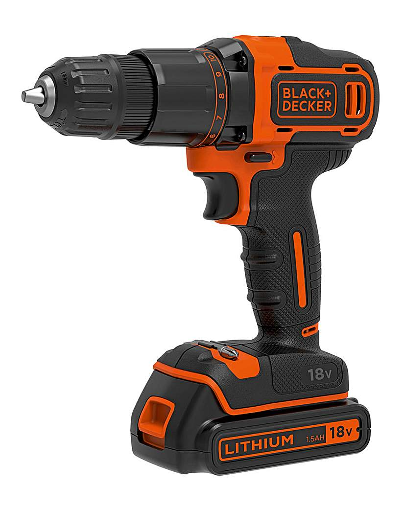 Image of Black and Decker 18V Combi Drill