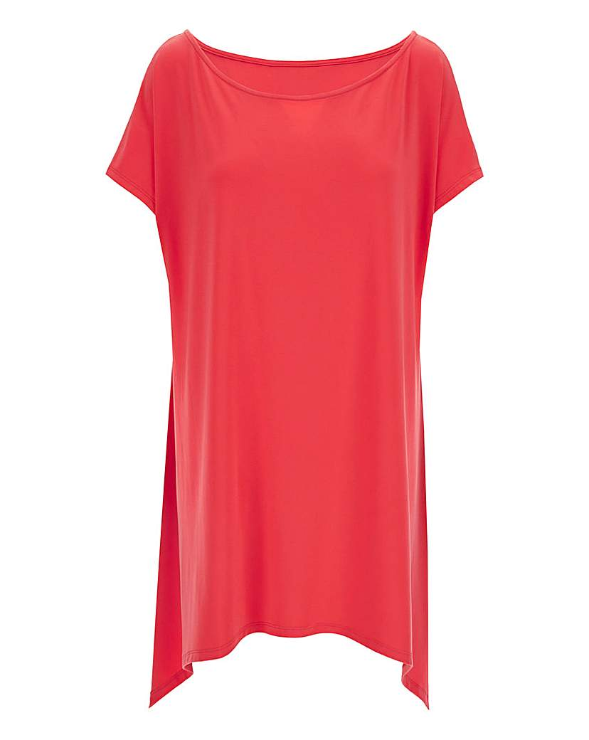 Simply Be Red Asymmetric Off Shoulder Top