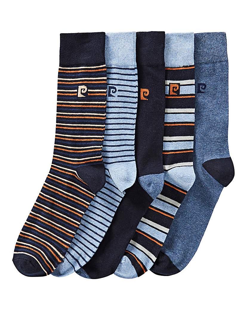 Pierre Cardin 5PK Stripe Socks