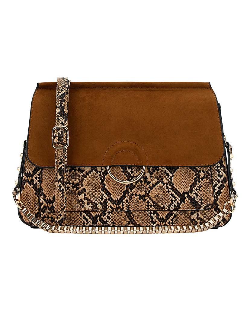 Simply Be 70's Snake Print Shoulder Bag
