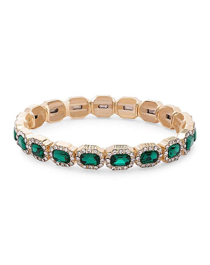 Jon Richard Jon Richard Green Rectangle Bracelet