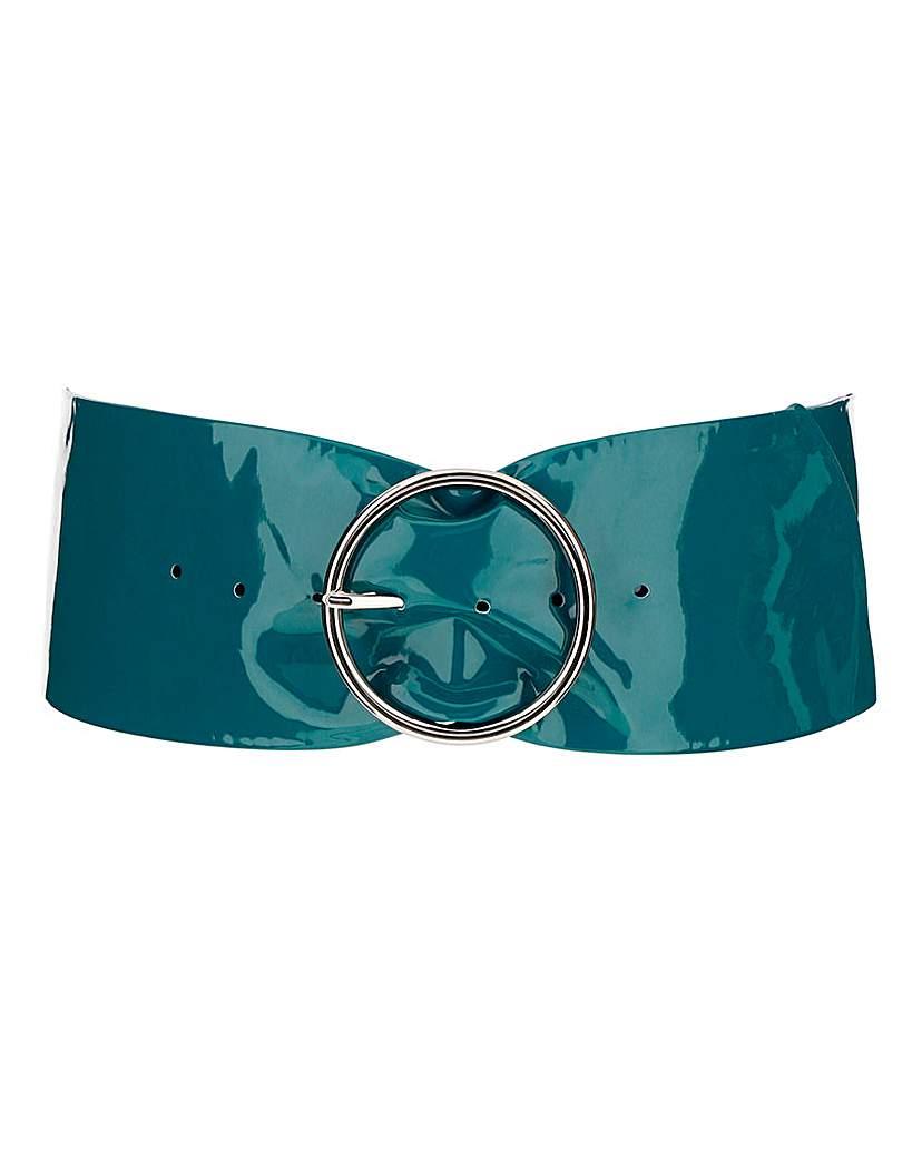 Capsule Patent Teal Waist Belt