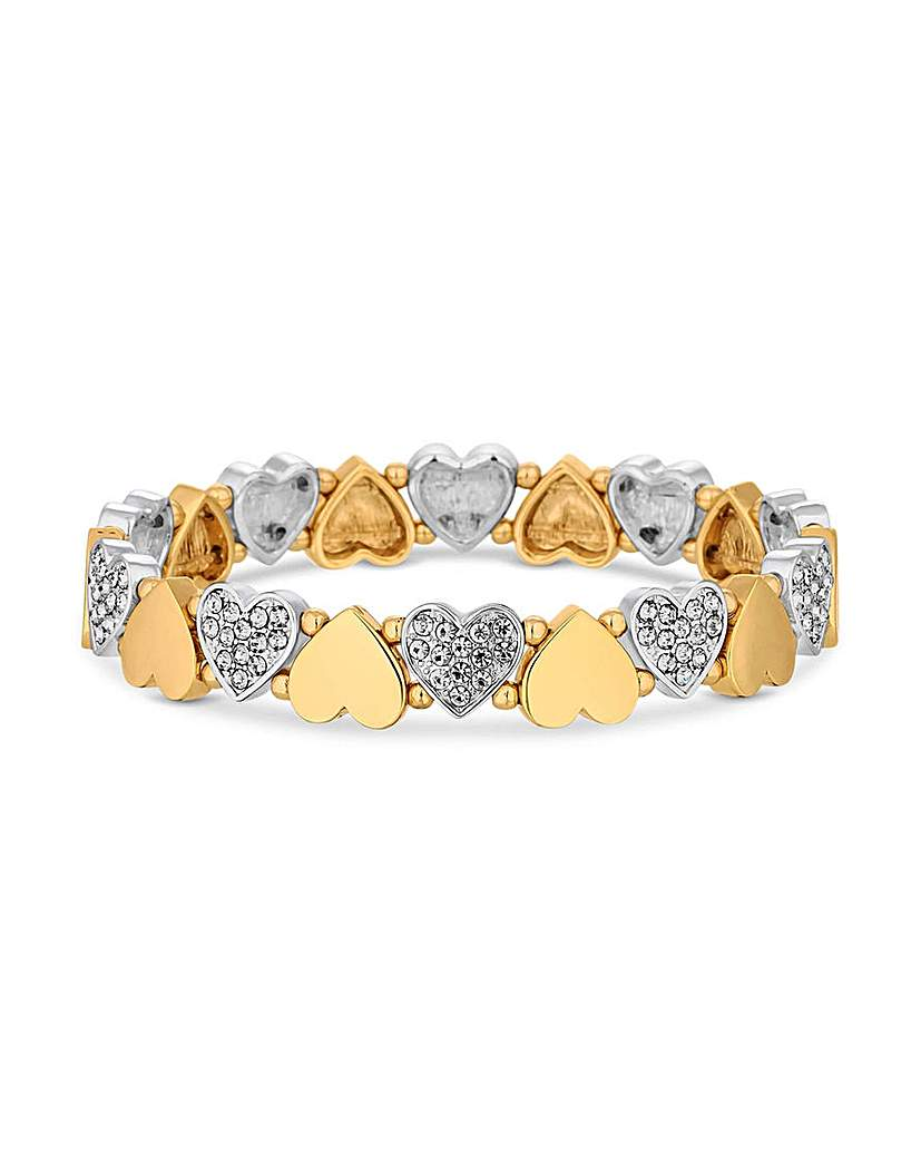 Jon Richard Two Tone Heart Bracelet