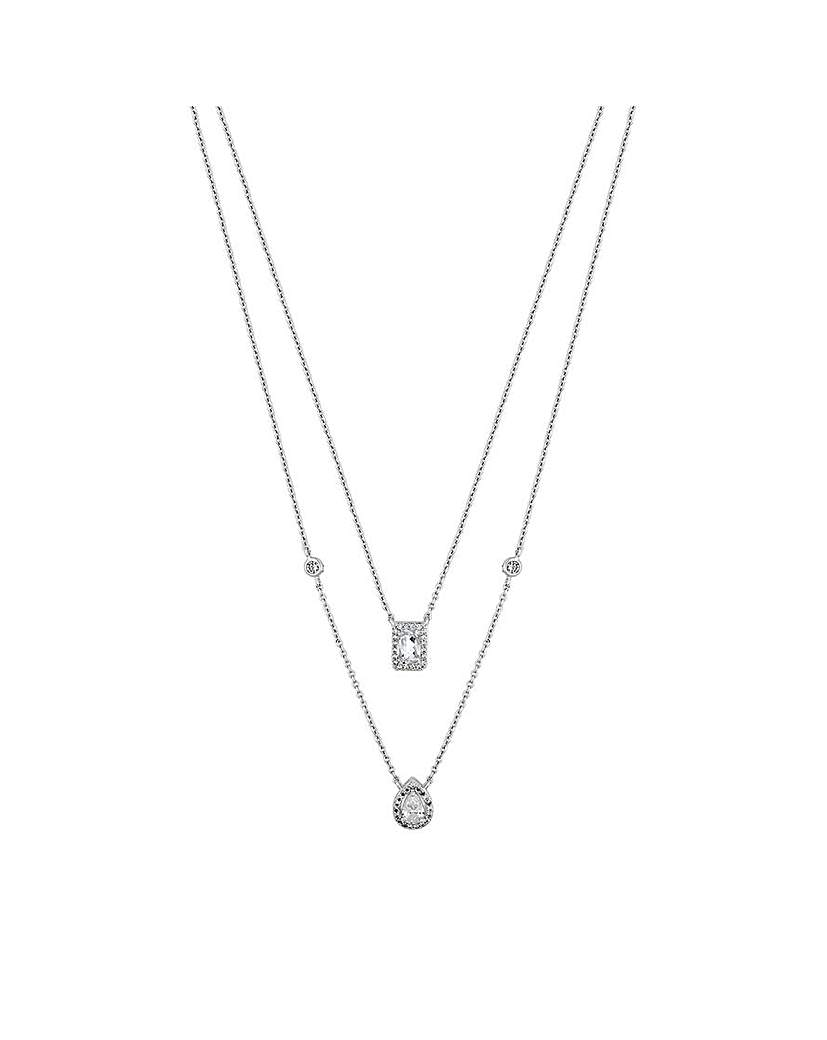 Simply Silver by Jon Richard Simply Silver Halo Double Row Necklace