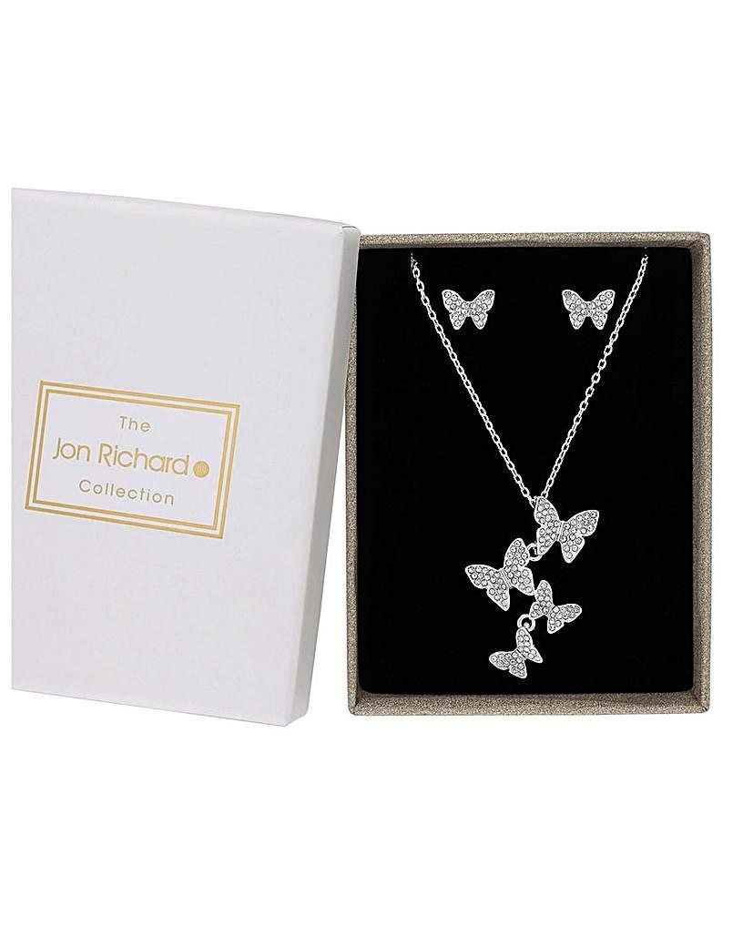 Jon Richard Butterfly Necklace Set