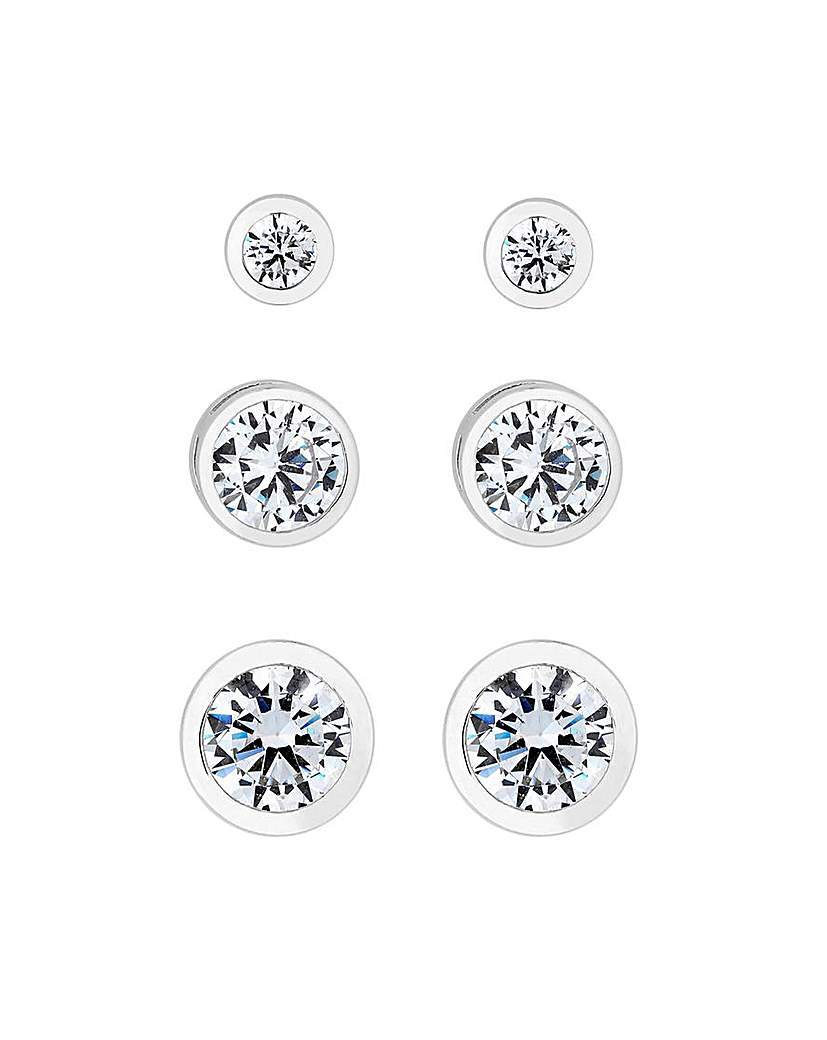 Simply Silver 3 Pack Stud Earrings