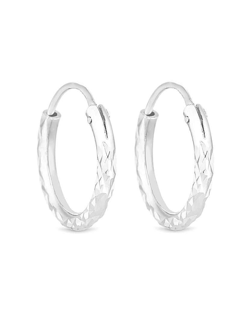 Simply Silver Mini Hoop Earring