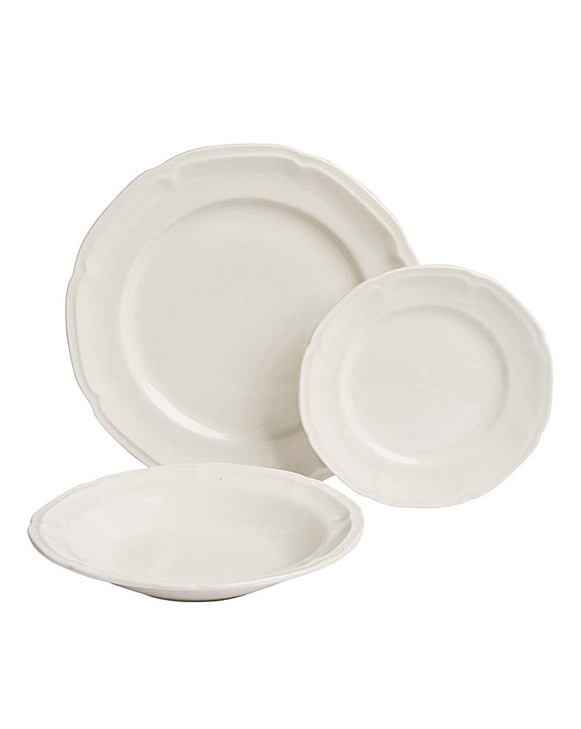 Image of 12-Piece Vintage Embossed Dinner Set