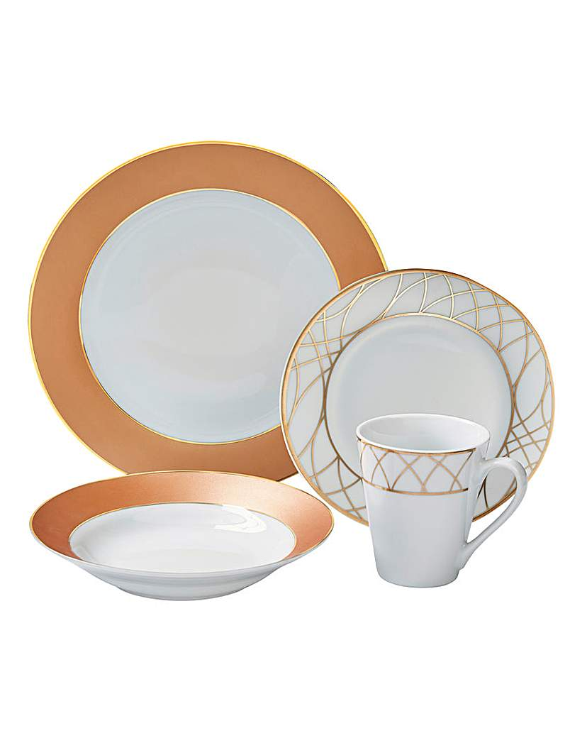Image of 12-Piece Rose Gold Dinner Set