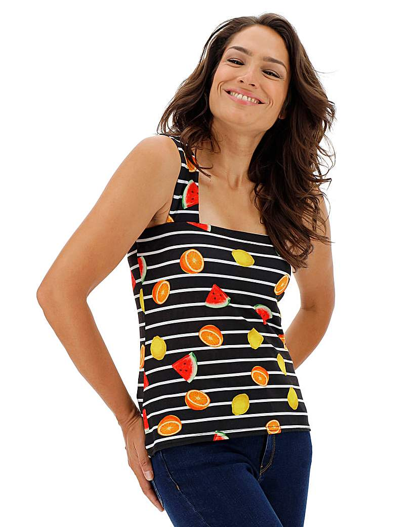 Simply Be Printed Square Neck Vest