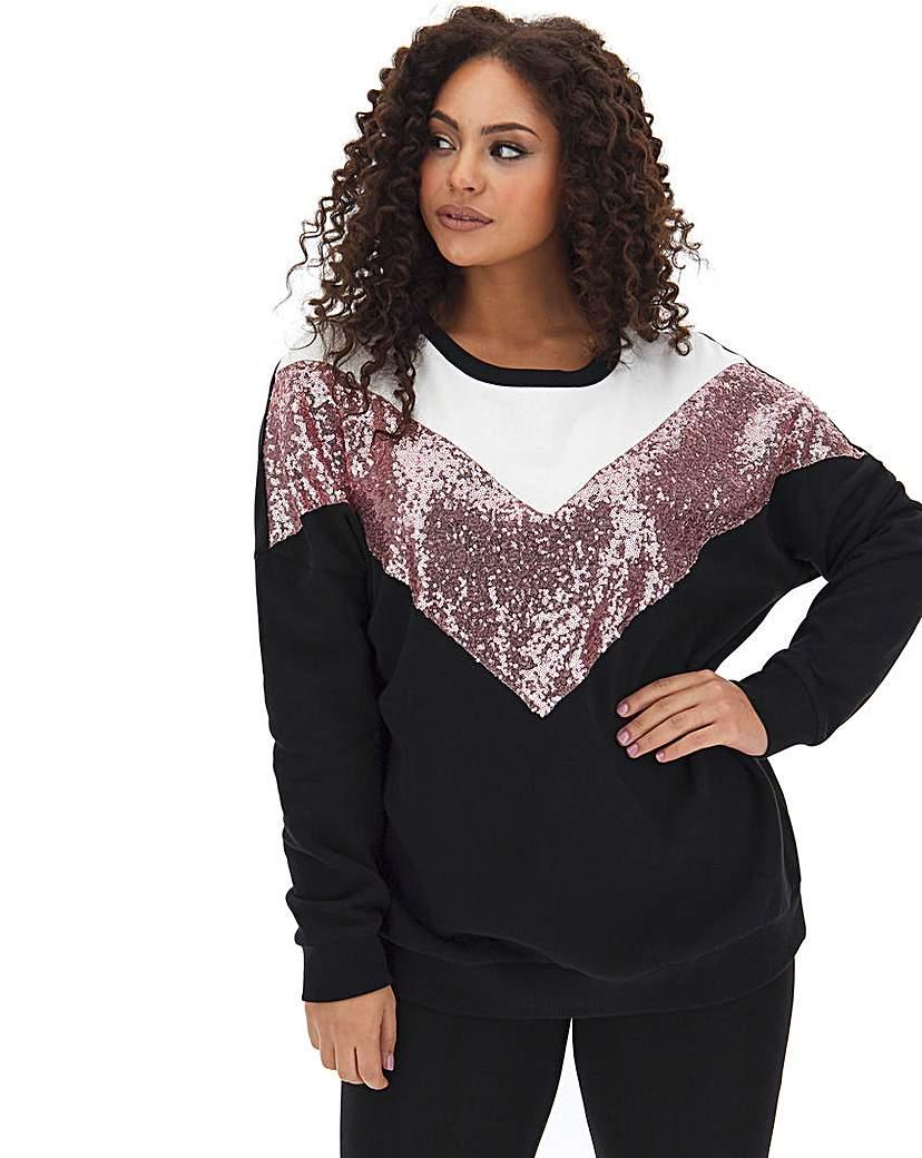 Simply Be Chevron Sweatshirt