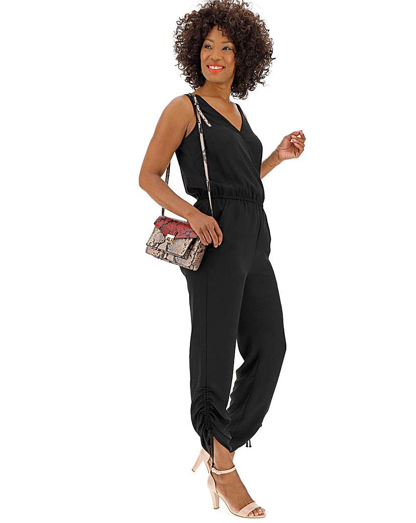 BLACK UTILITY JUMPSUIT at JD Williams