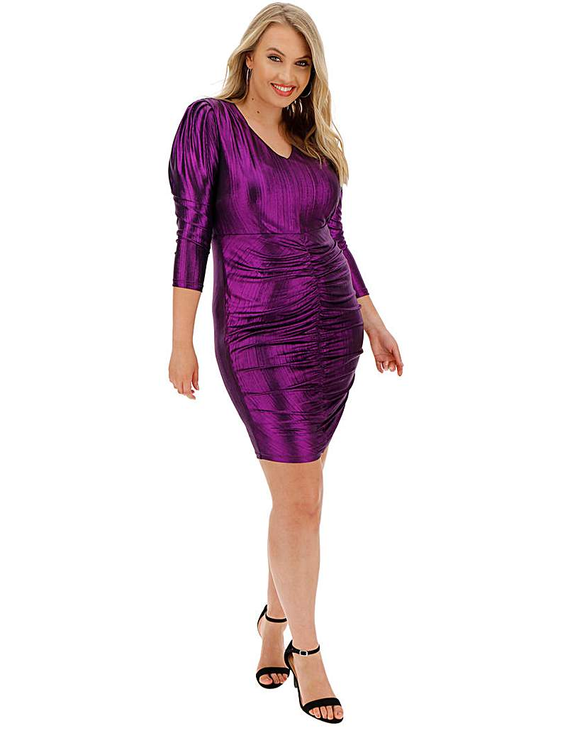 Simply Be Shirred Front Bodycon Dress