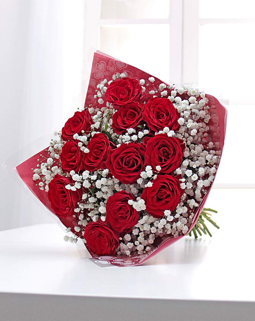 Image of 12 Red Roses Bouquet