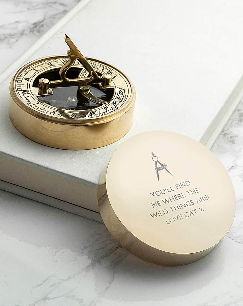 Image of Personalised Iconic Sundial Compass