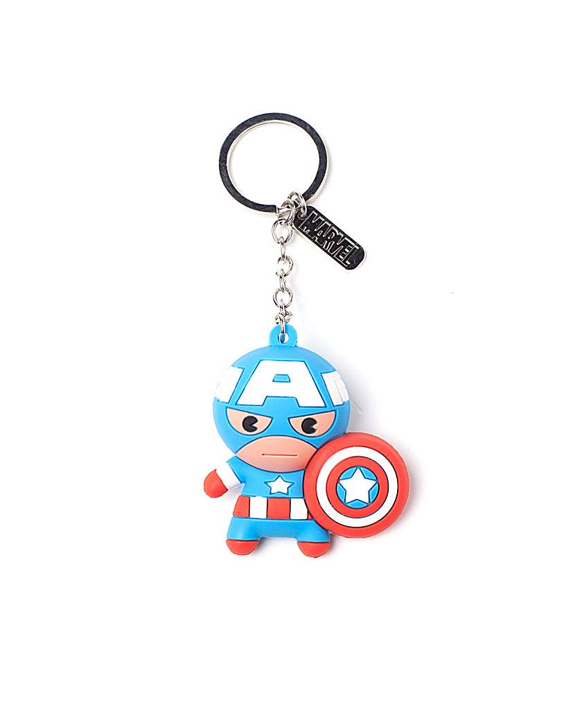 Image of Captain America 3D Rubber Keychain