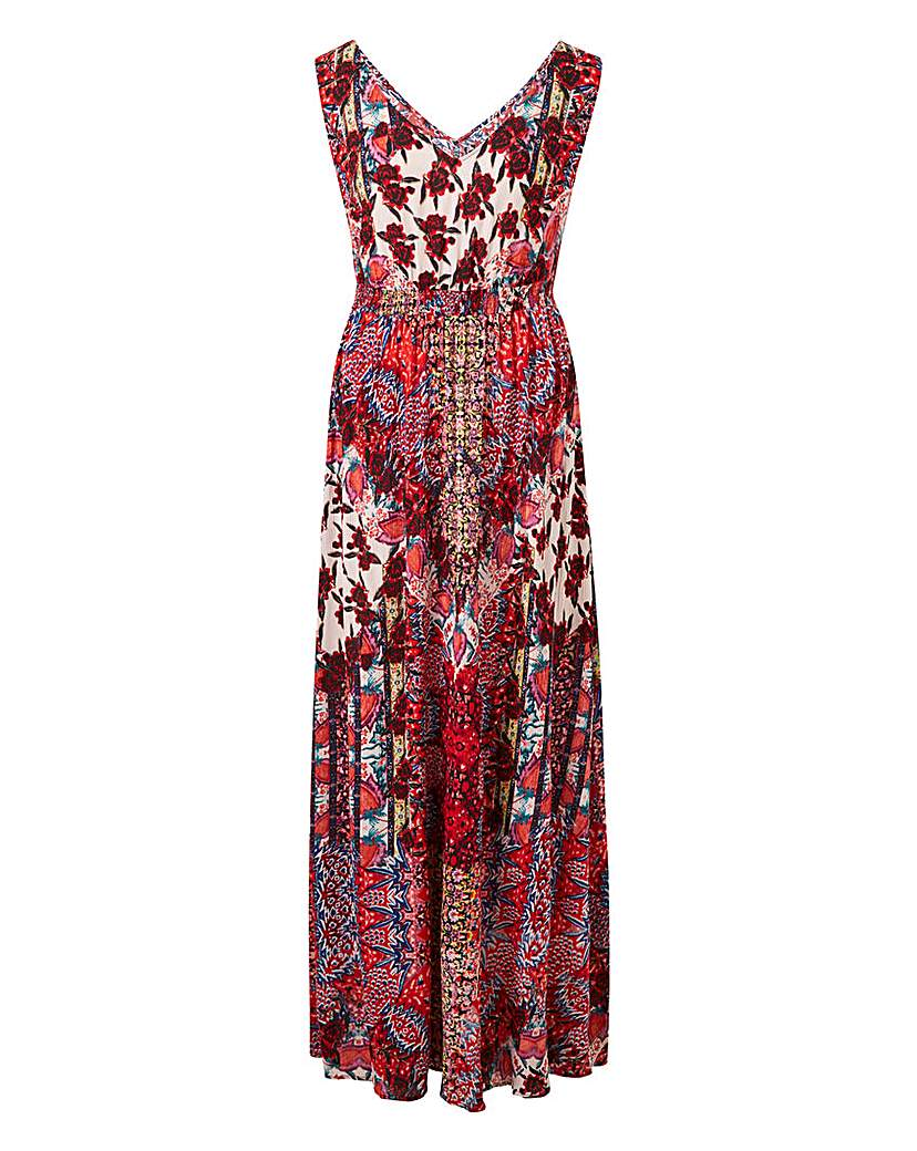 Together Patch Print Maxi Dress