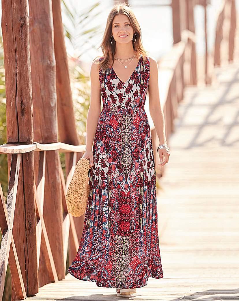 Together Patchwork Print Maxi Dress