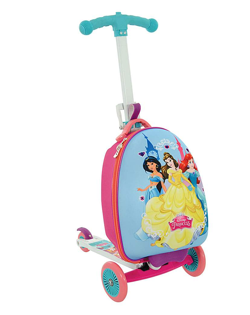 disney princess 3in1 scootin suitcase