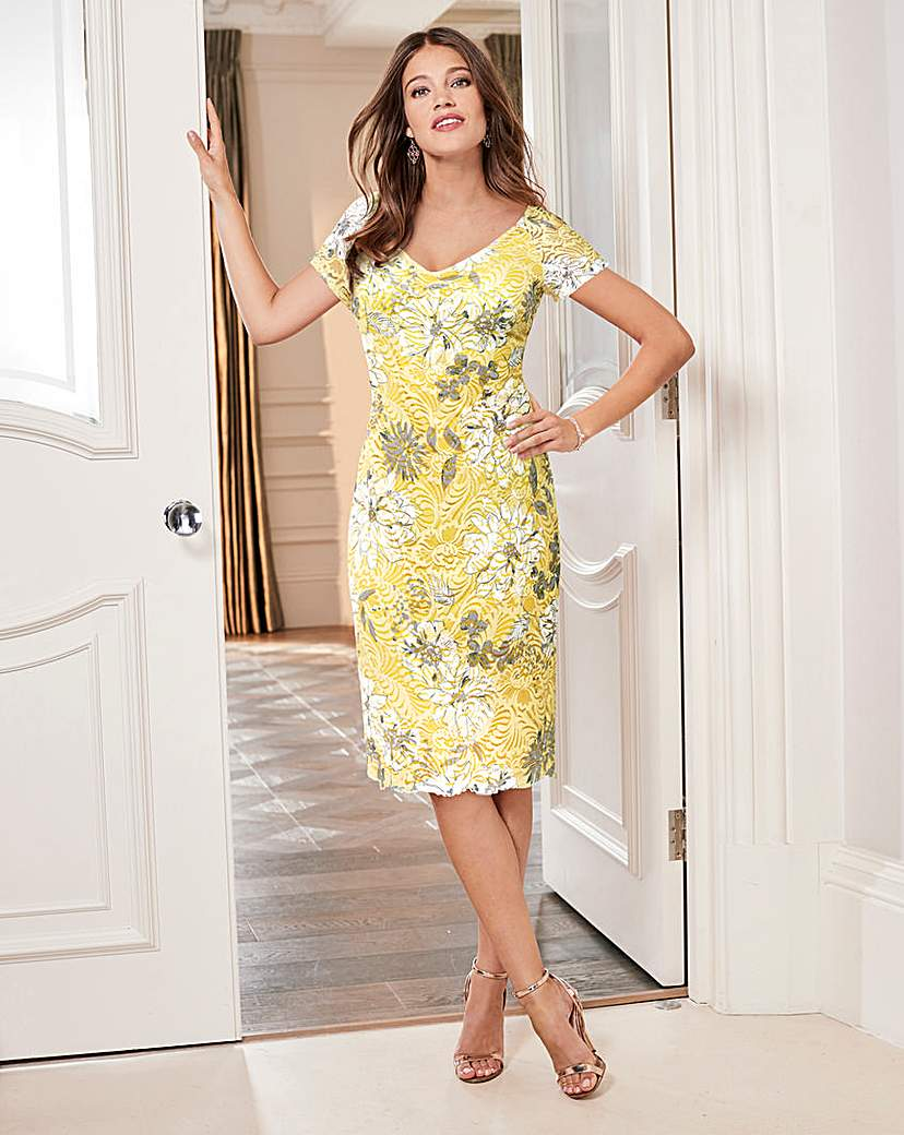 Together Lace and Print Dress