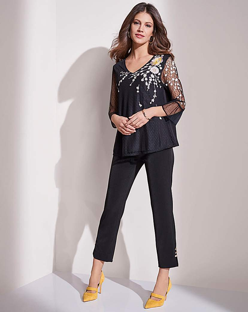 Together Mesh Embroidered Top