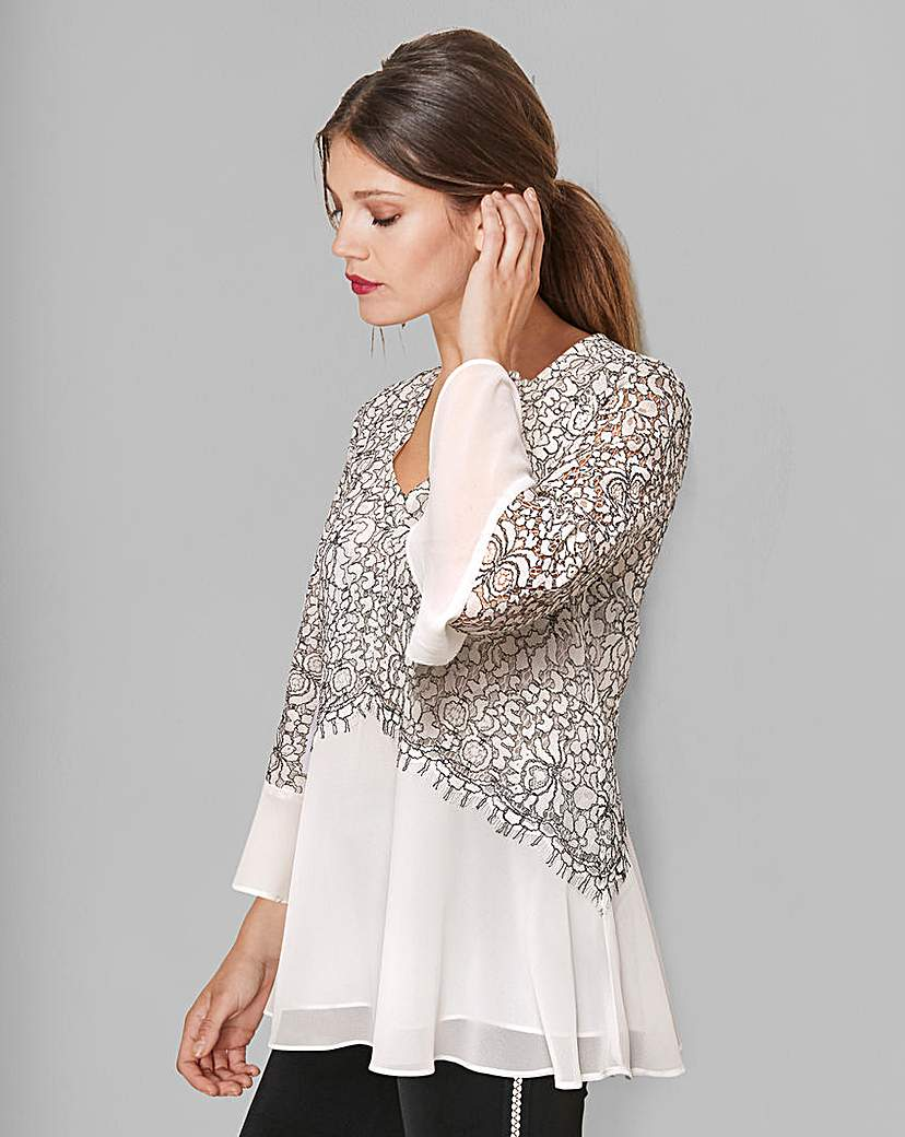 Together Lace Overlay Blouse