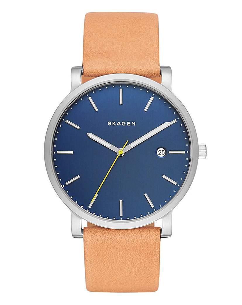 Skagen Leather Strap Watch