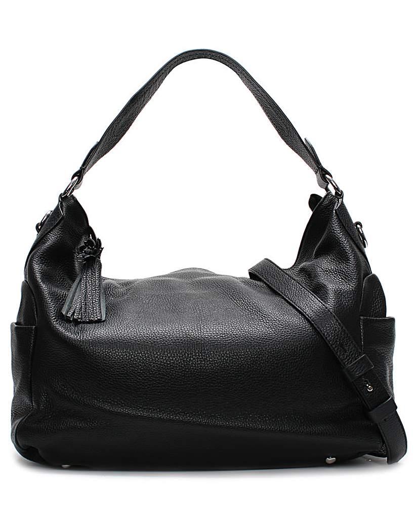 Daniel Doyt Grainy Leather Hobo Bag