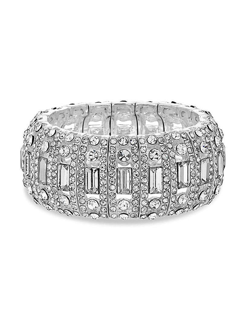 MOOD Baguette Stone Stretch Bracelet