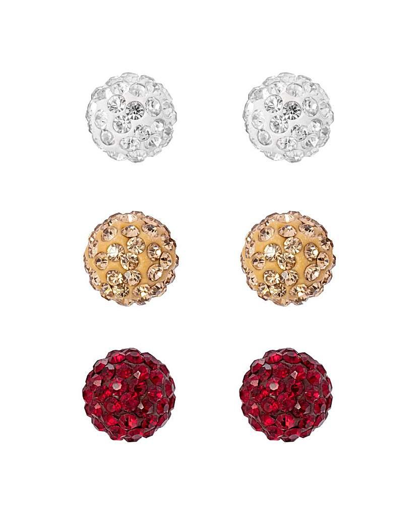 MOOD Baroque Balls Stud Earrings 3pk