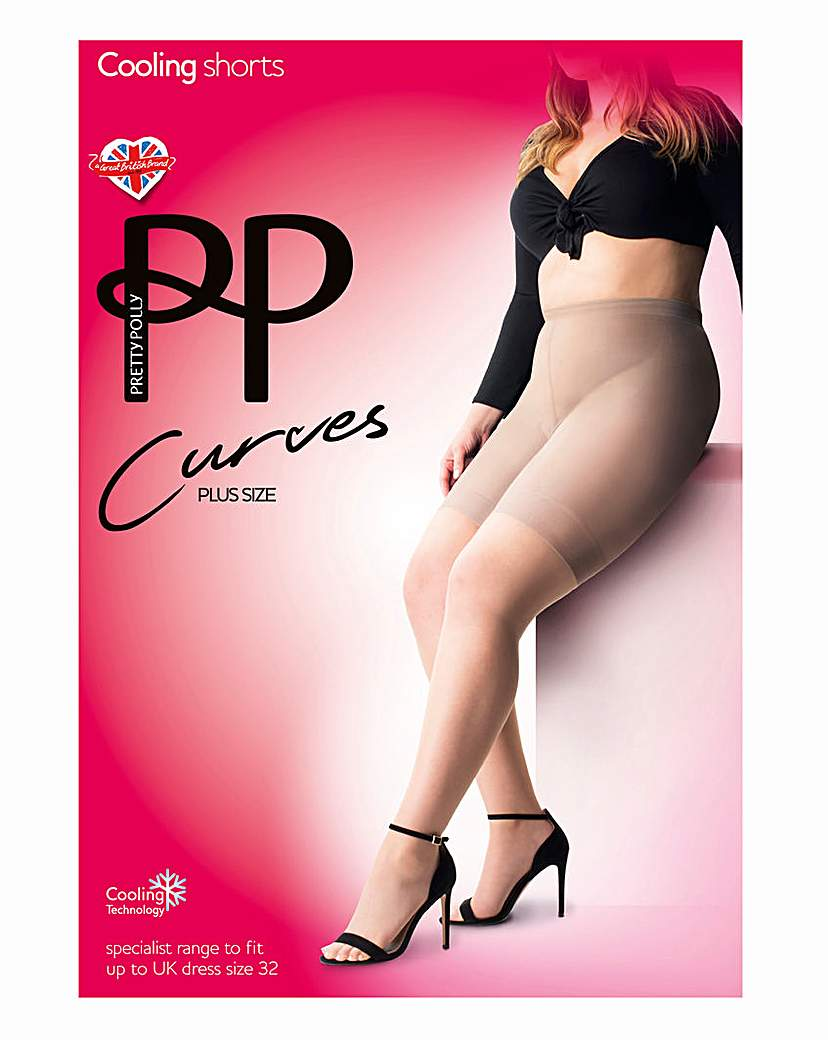 Simply Be Pretty Polly Curves Sheer Cooling Shorts