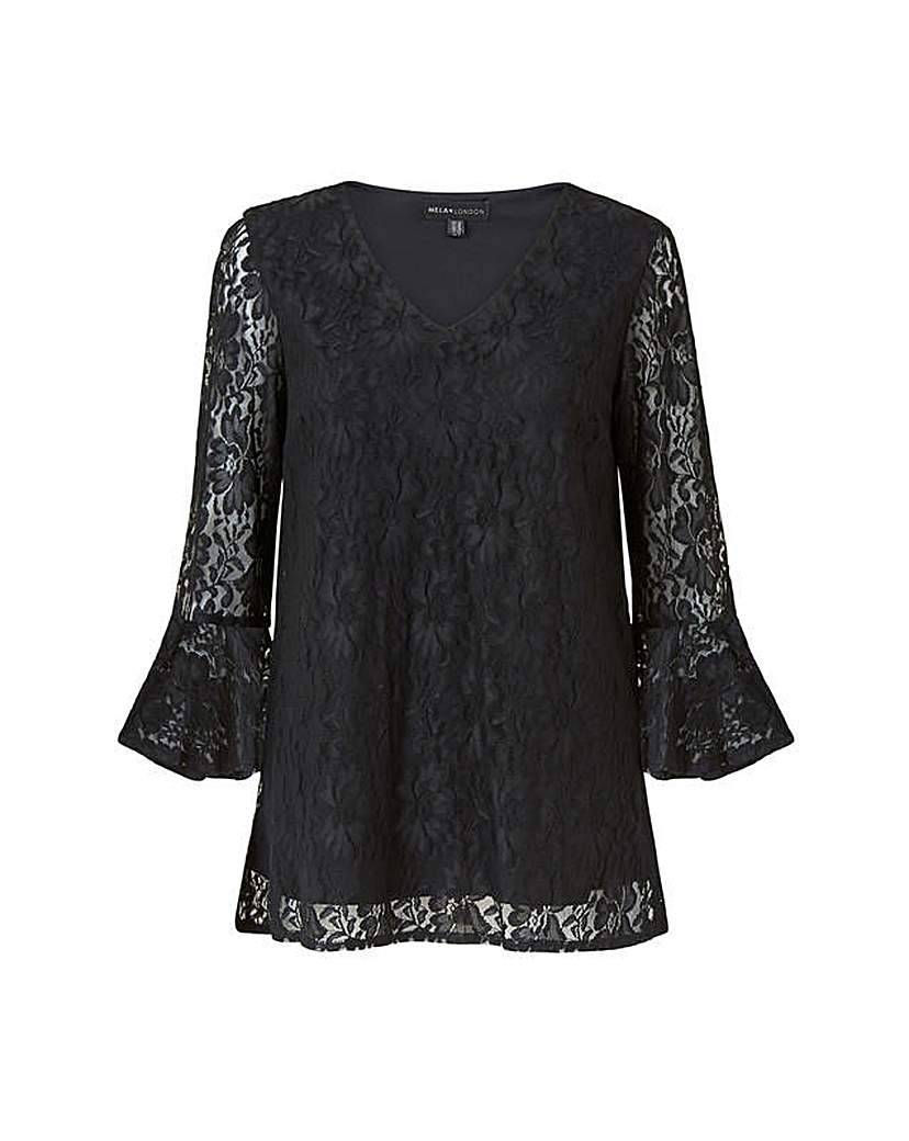 Mela London Curve Mela London Curve Black Lace Top