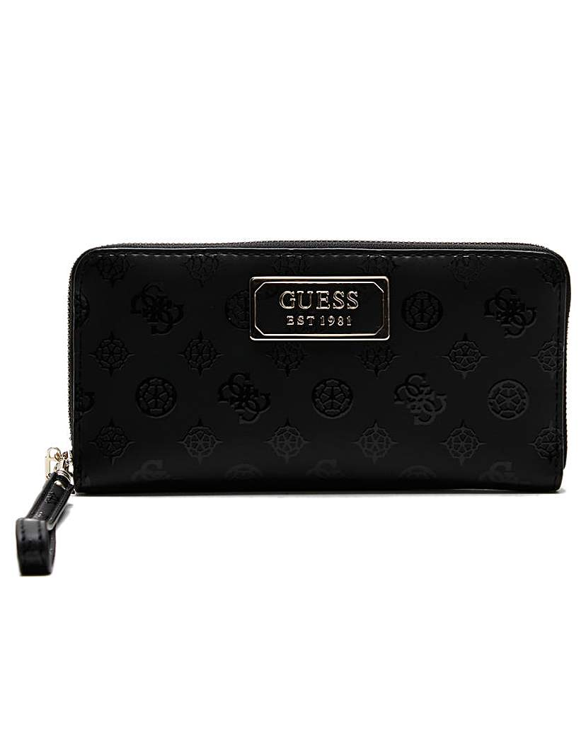 Guess Guess Kamryn Stamp Zip Around Wallet