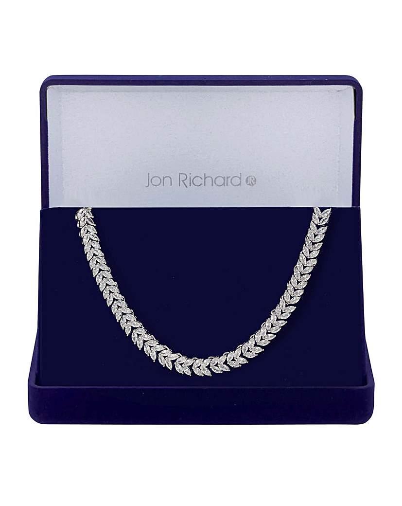 Jon Richard Silver Leaf Necklace