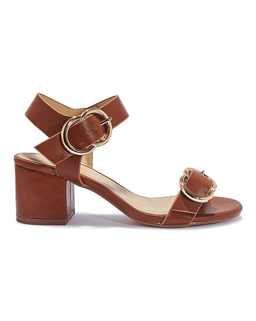 Simply Be Metal Detail Heel Standard Fit