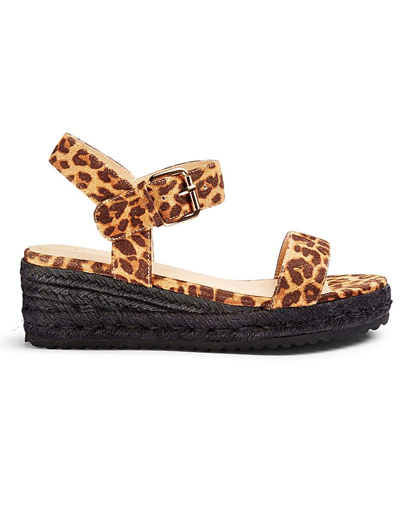 Simply Be Indra Low Espadrille Wedge Wide Fit