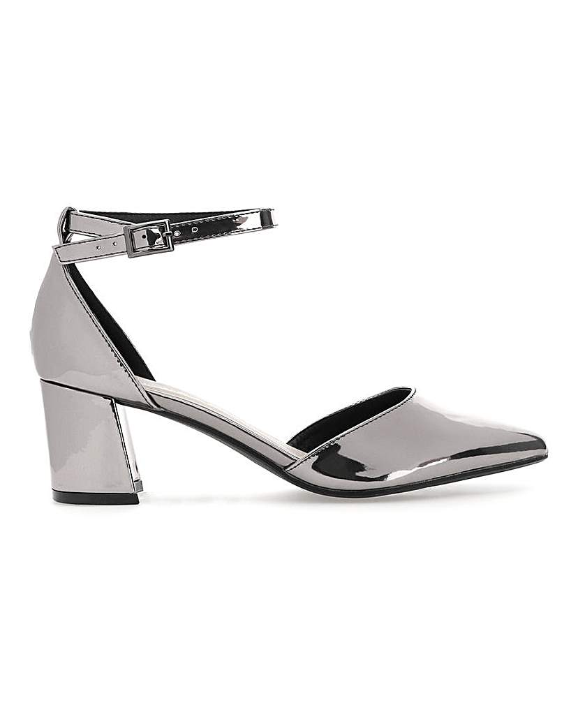 Simply Be Clio Block Heel Courts Wide Fit