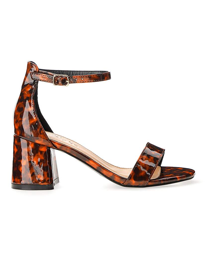 Simply Be Cammy Block Heel Sandals Extra Wide Fit