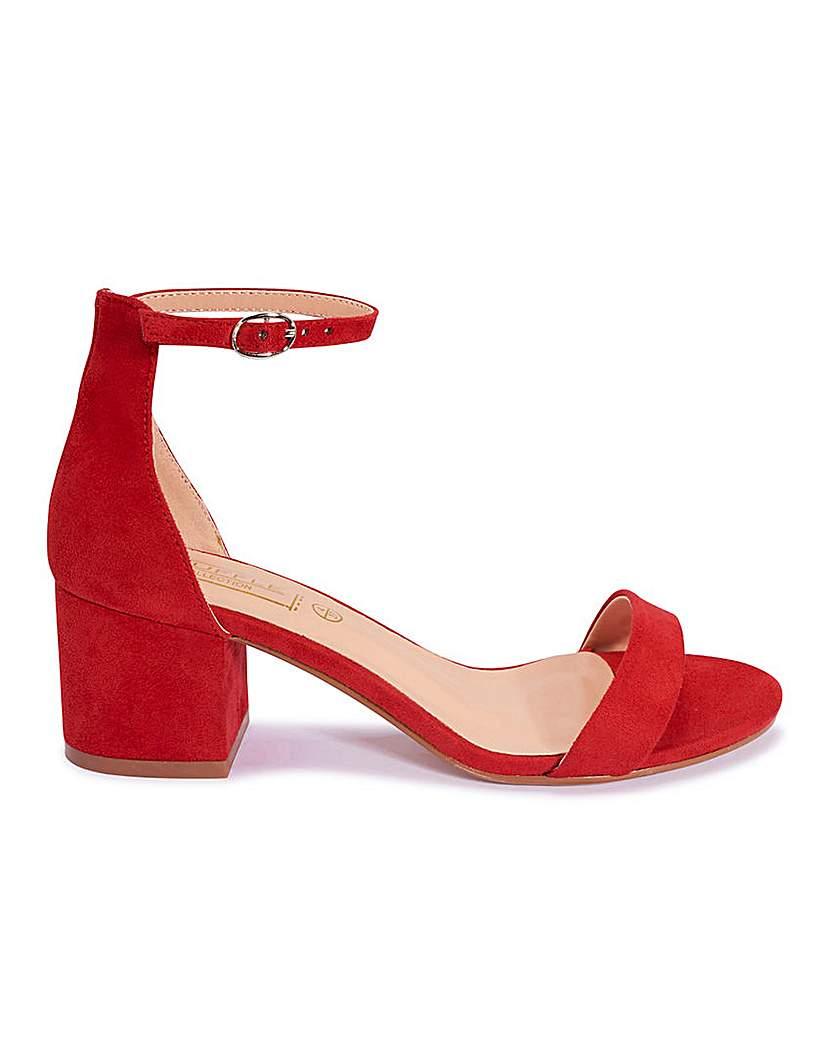 Simply Be Block Heel Sandals Standard Fit